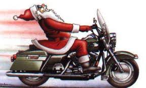 Sant on a Harley