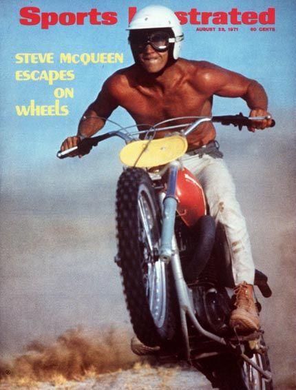Steve McQueen on 1971 Husqvarna 400