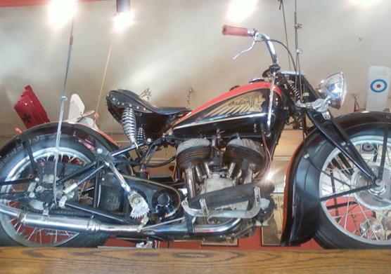 Indian Motorcycle at Eddie Rickenbacker's in San Francisco