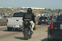 Lane Splitting Motorcycle in California - Long Beach Motorcycle Accident Lawyers