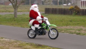 Santa on Motorcycle - OC motorcycle accident lawyer in Orange County