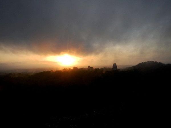 Tikal Ruins Sunset, Guatemala