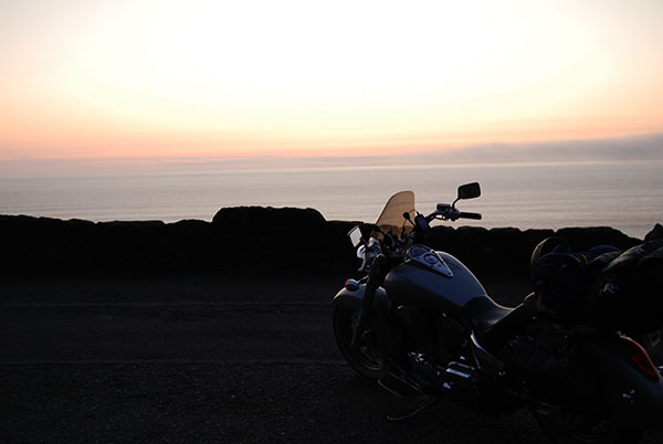 Honda VTX1300 Over Ocean