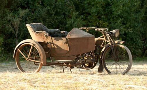 1917 Vintage Thor Motorcycle Sidecar