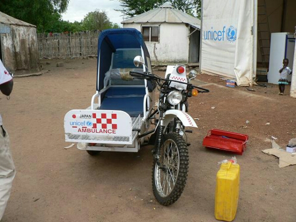 Motorcycle sidecar ambulance
