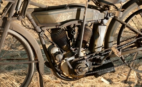 1917 Vintage Thor Motorcycle Sidecar Engine