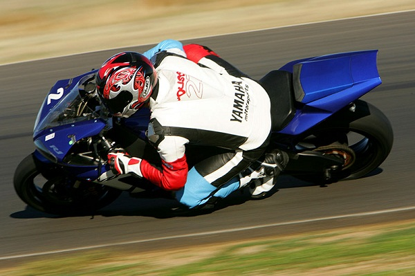 Inside leg position while track riding