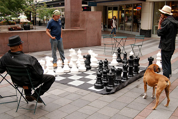 Downtown Seattle Chess Game
