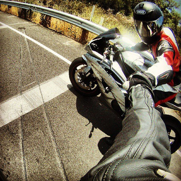 Action Shot from POV Motorcycle Video