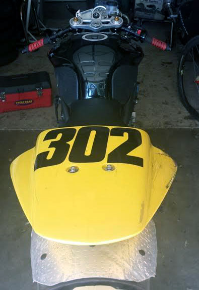 Triumph 675 track bike rear