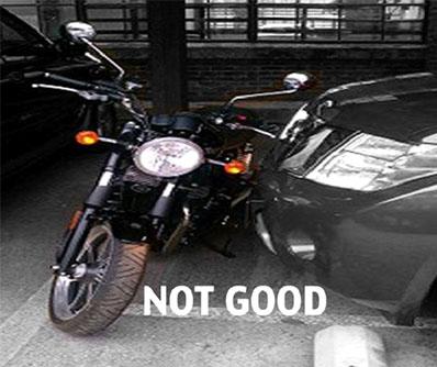 Bad motorcycle parking