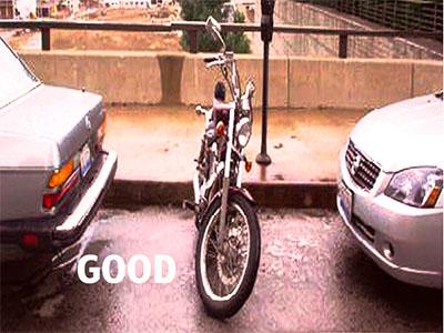 Good motorcycle parking