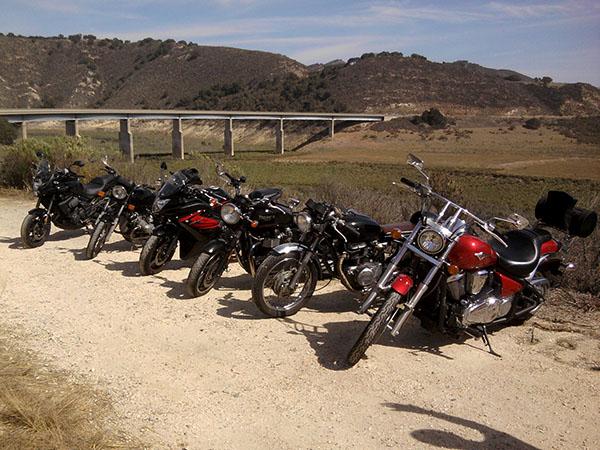 Team meetup ride central California