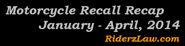 2014 Motorcycle Recalls
