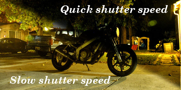 How to take bright motorcycle night photos