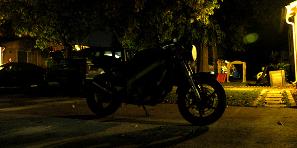 Motorcycle low light photography