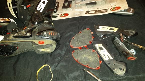 Repairing SIDI motorcycle boots