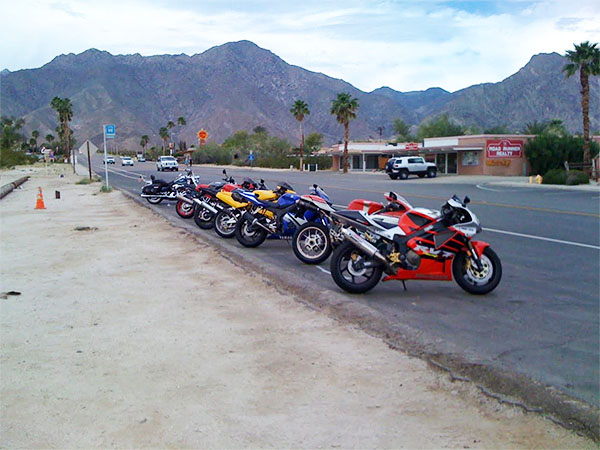 Southern California group ride desert