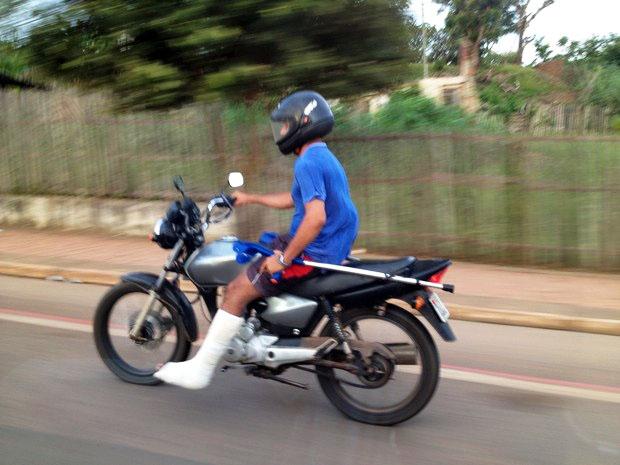 Riding motorcycle while injured