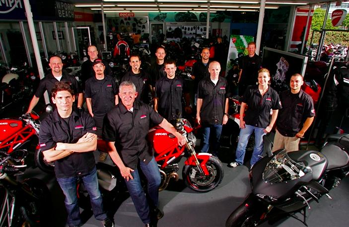 The team at Ducati Newport Beach