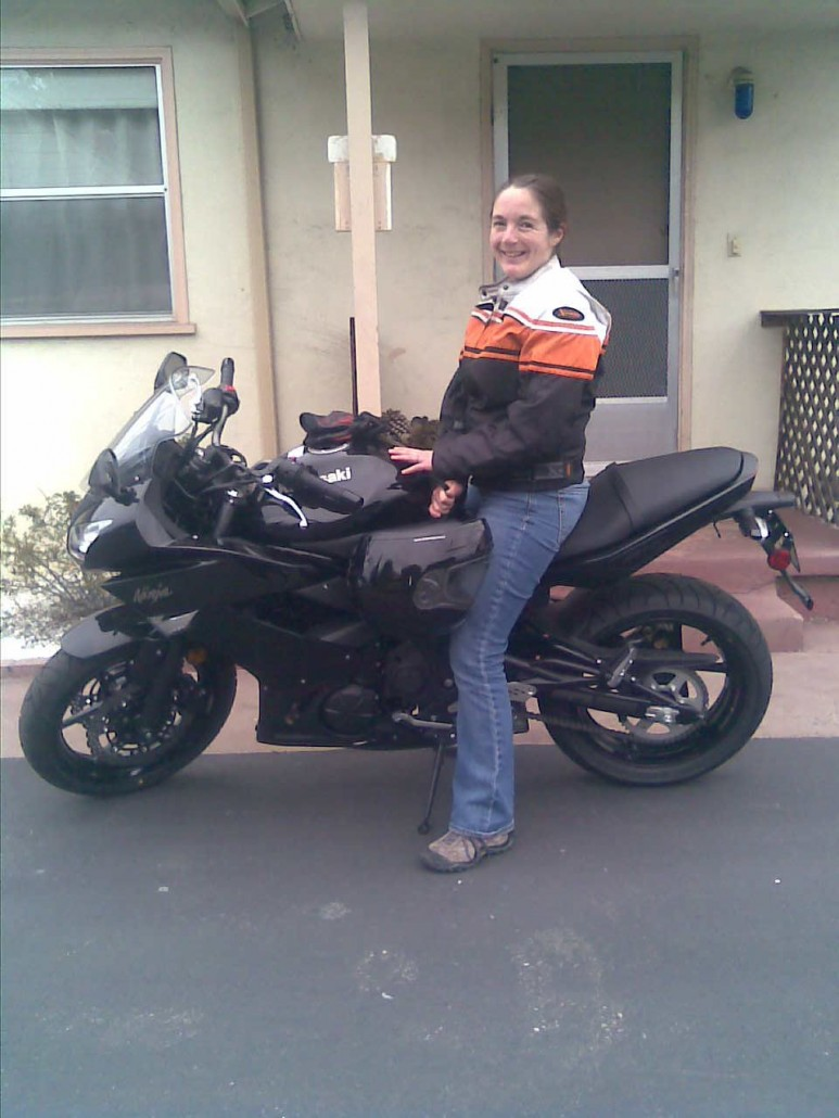 2011 Ninja650R, 1.5 inches taller than my legs are long. Photo credit: T. Heyman