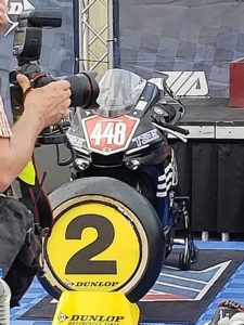 image of winners circle at MotoAmerica race