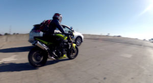 Lane splitting on a motorcycle in California is legal in many cases, but can increase your chances of an accident if you are careful