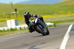 Motorcycle on the track
