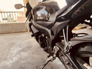 motorcycle view from swingarm