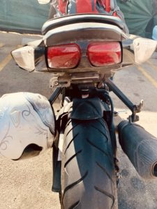 motorcycle missing california license plate