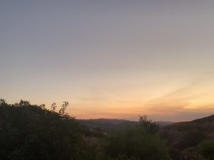 Simi Valley sunset minutes before dark