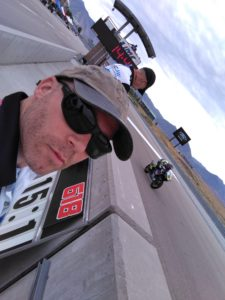 RiderzLaw Attorney and RiderzLaw Racing Team Manager Aaron Nazif trackside at a race.