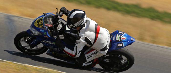 RiderzLaw Motorcycle Accident Attorney Aaron Nazif Racing on a Kawasaki Ninja 400R